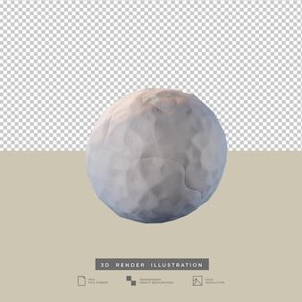 Winter snowball 3d illustration