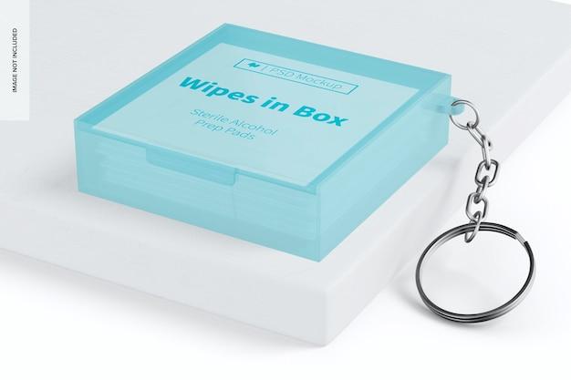 Salviette in scatola sul mockup del podio