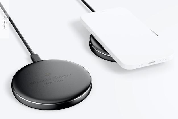 무선 충전기 모형 프리미엄 PSD 파일
