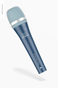 Мокап беспроводного портативного микрофона, плавающий