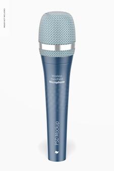 Wireless handheld microphone mockup