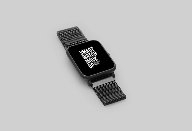Wireless smart watch with screen mockup