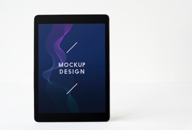 Wireless tablet screen mockup template