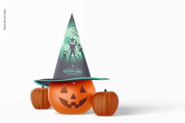 Modello di cappello da strega, vista frontale