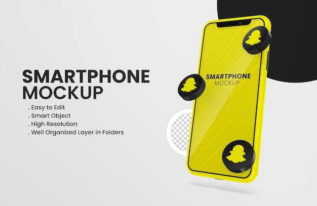 Макет смартфона с 3d-рендерингом