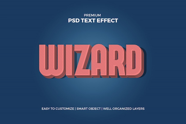 Wizard vintage pink text effect