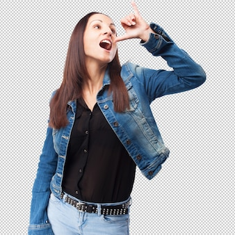 Woman drinking gesture