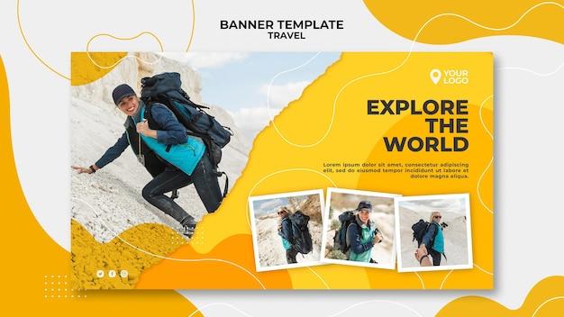 Pagina di destinazione della donna alla montagna