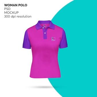 Woman polo mockup