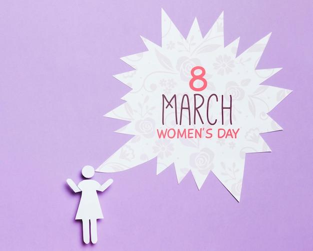 Mock-up di concetto di giorno della donna
