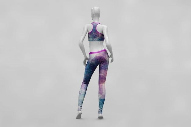 Женская спортивная одежда макет