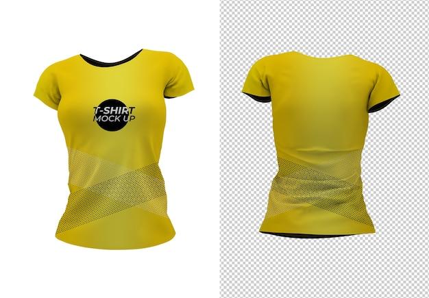 여자 티셔츠를 모의