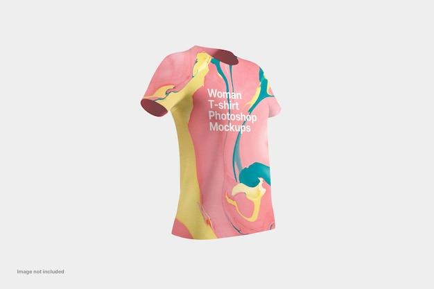 고립 된 여자 티셔츠 모형 디자인