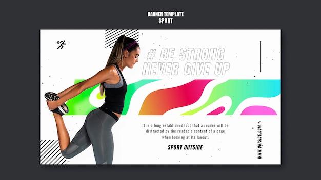 Шаблон баннера тренировки женщины