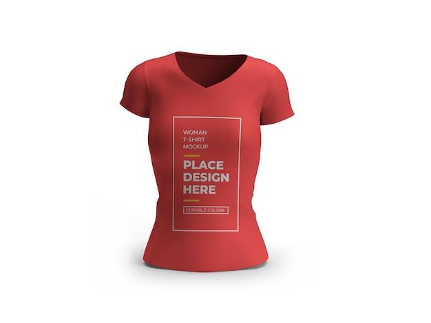 Woman tshirt 3d mockup design isolated
