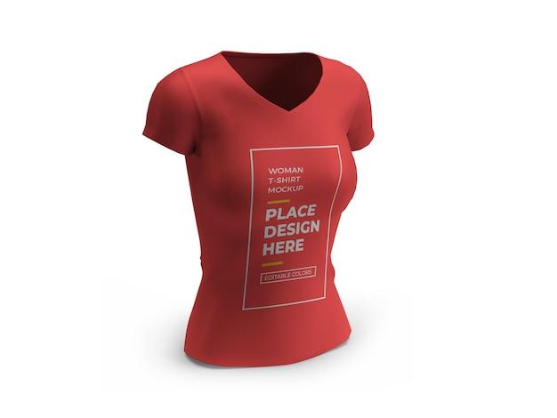 여자 tshirt 3d 모형 디자인 절연