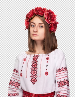Woman in the ukrainian national suit
