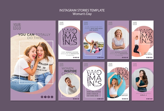 Womans day theme for instagram stories template