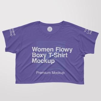 여성 드레이프 소매 티셔츠 모형