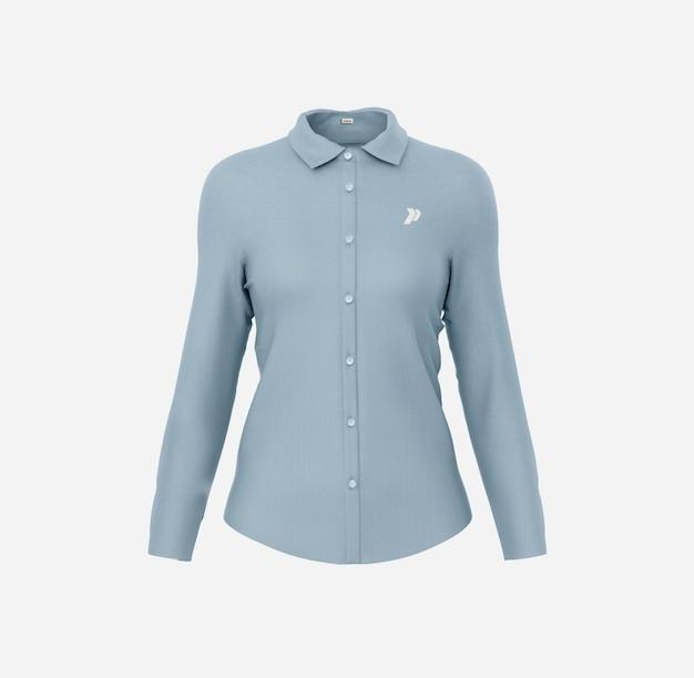Женская классическая рубашка mockup