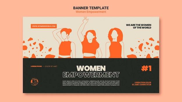 女性のエンパワーメントバナーテンプレート