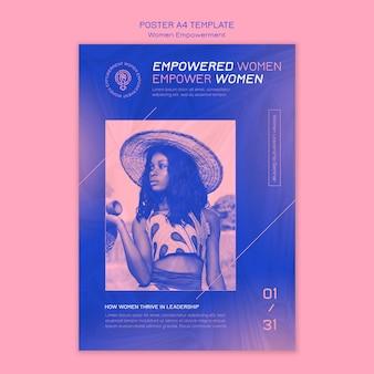 Modello di volantino per l'empowerment delle donne
