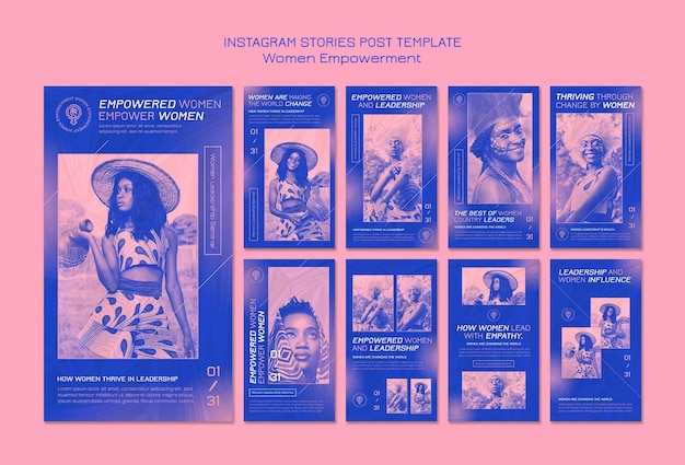 Истории о расширении прав и возможностей женщин в instagram