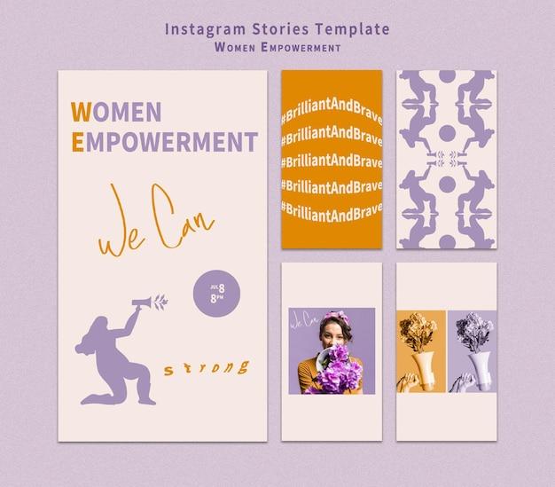 Истории о расширении прав и возможностей женщин в instagram Premium Psd