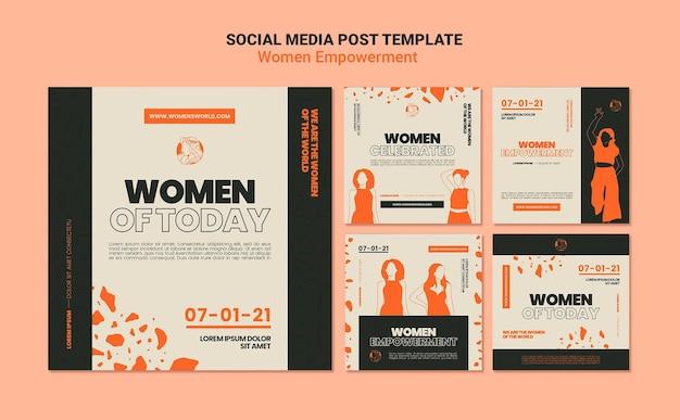 女性のエンパワーメントソーシャルメディアの投稿