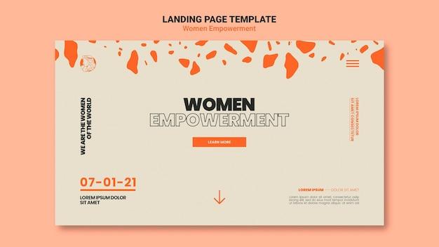 Women empowerment web template
