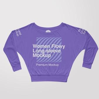 여성 flowy boxy tshirt 모형