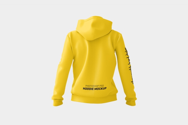 Women hoodie mock up