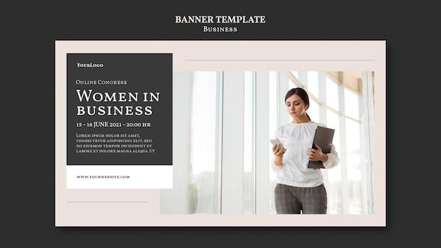 비즈니스 배너 서식 파일 여성