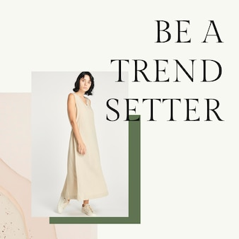 Women's earth tone fashion template psd for social media post