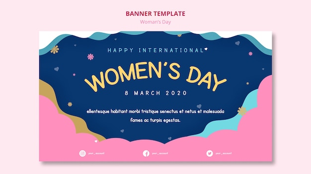 Women's day banner template abstract night