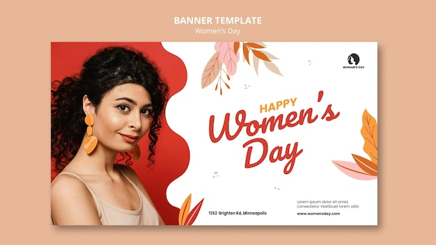 Women's day banner template