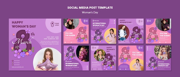 Women's day social media web templates