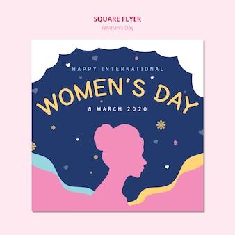 Modello di volantino quadrato giorno delle donne