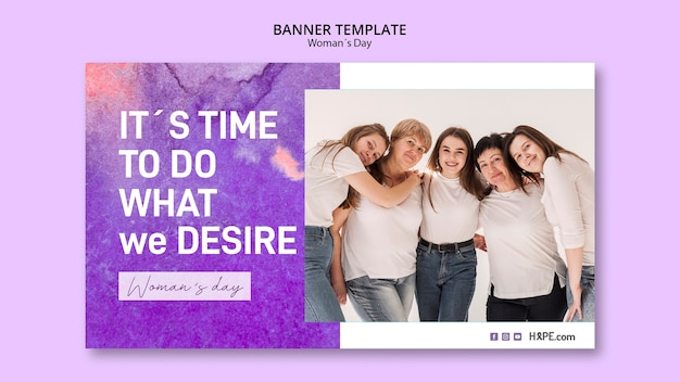 Womens day banner template