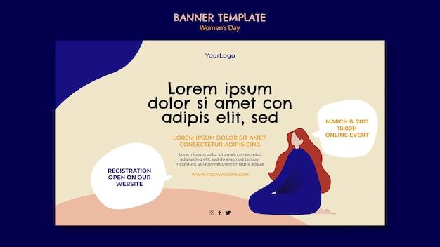 Шаблон баннера женский день