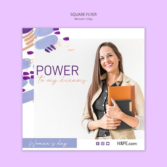 Womens day flyer template