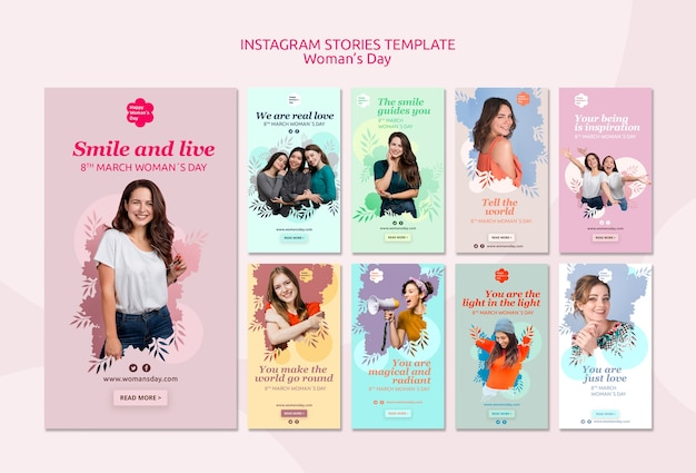 Womens day instagram stories template