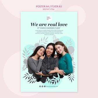 Tema del modello di poster del giorno delle donne