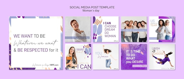 Womens day social media post template
