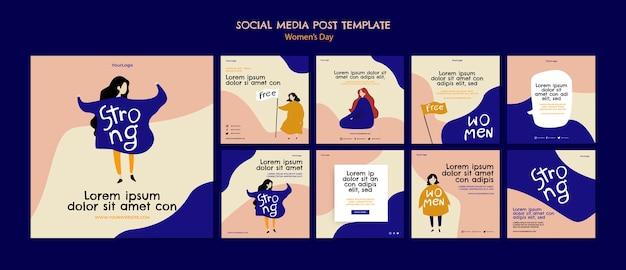 Женский день в социальных сетях