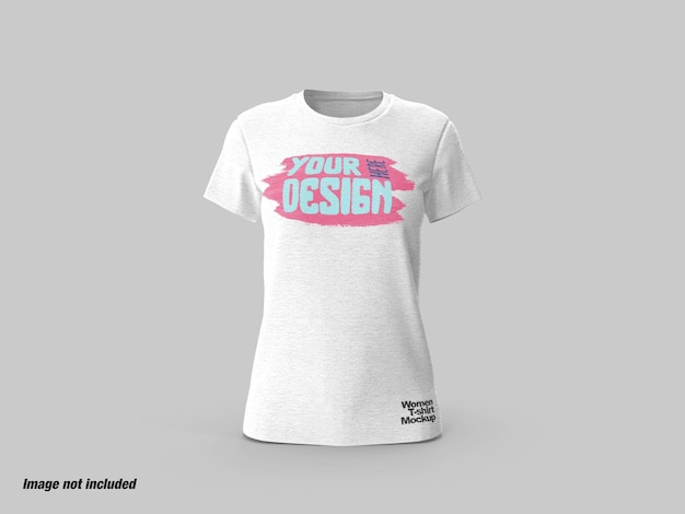 Женская футболка, вид спереди, мокап