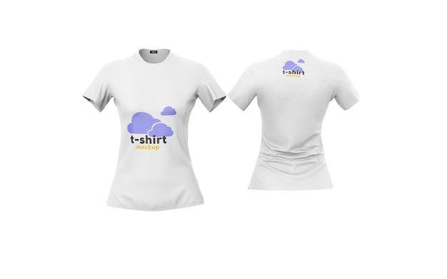 Мокап женской футболки