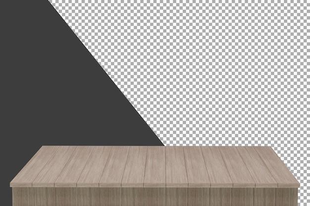 分離された木の板の3dレンダリング