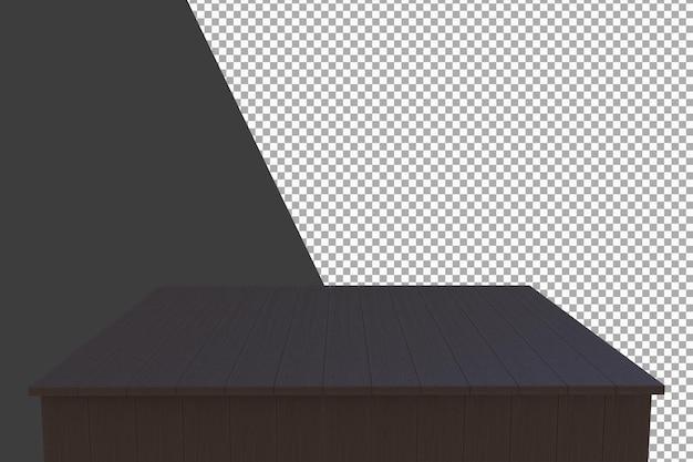 Деревянная доска 3d-рендеринга изолированные