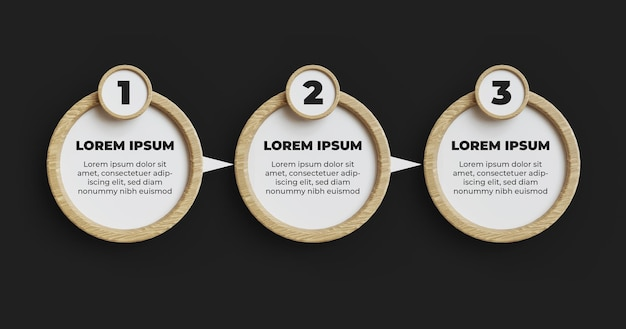 Wood infograpich element step template